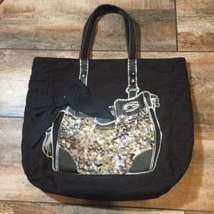 Juicy Couture - Sequined Tote w/ Quilted Sides
